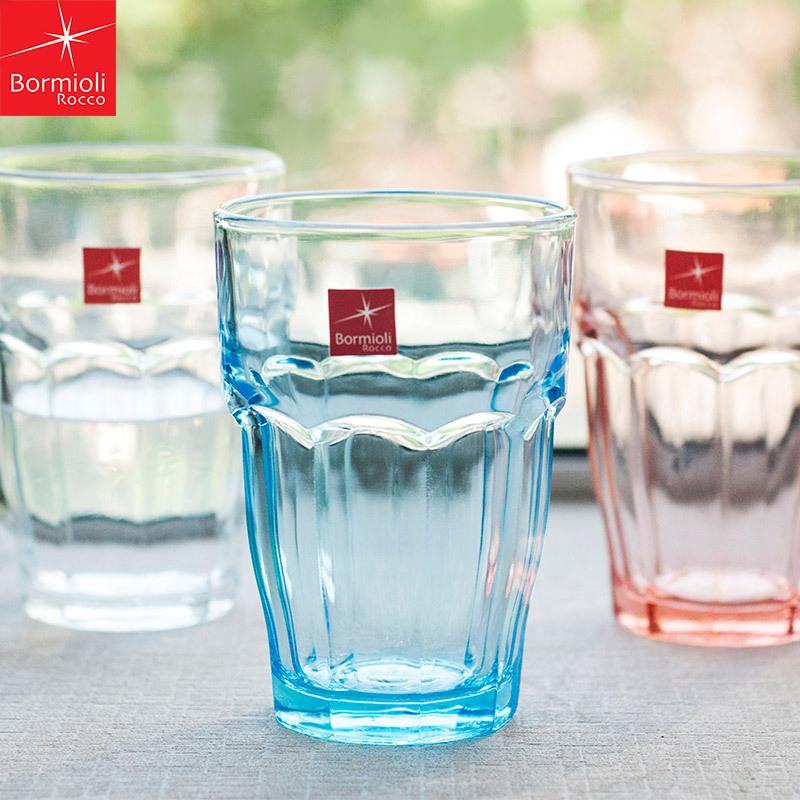 意大利进口波米Bormioli家用漱口杯 酒店餐厅钢化玻璃水杯