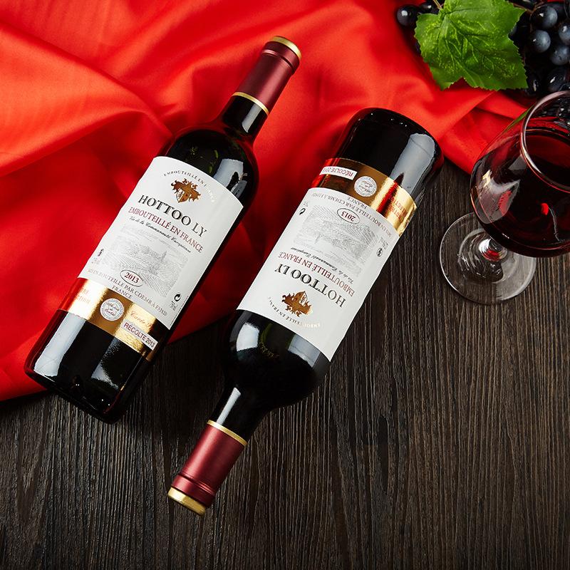 法国原瓶进口红酒正品包邮梅洛品丽珠干红葡萄酒