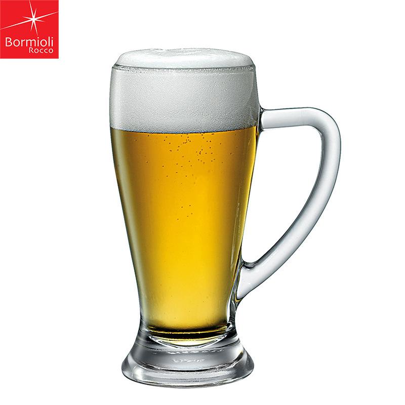 意大利进口波米欧利Bormioli大容量带把手 酒吧KTV啤酒杯