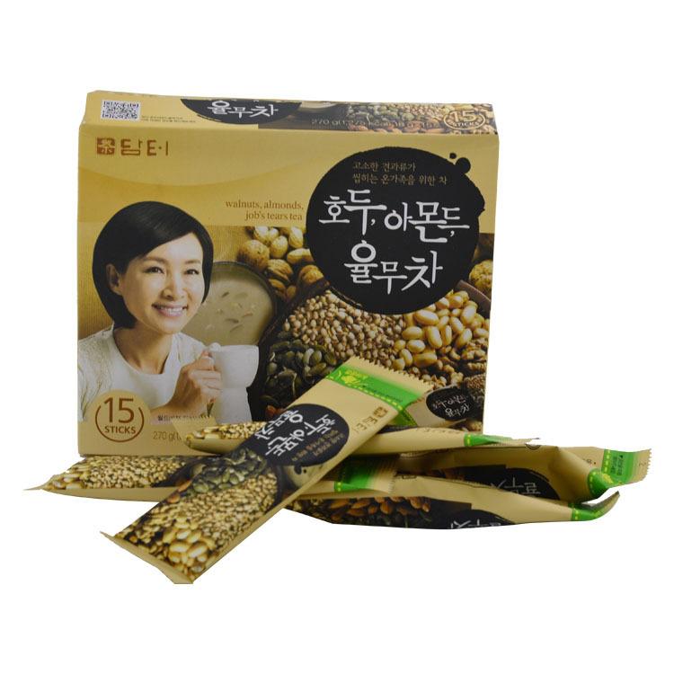 韩国进口养生保健茶丹特五谷茶 八宝茶15条盒装270g/盒