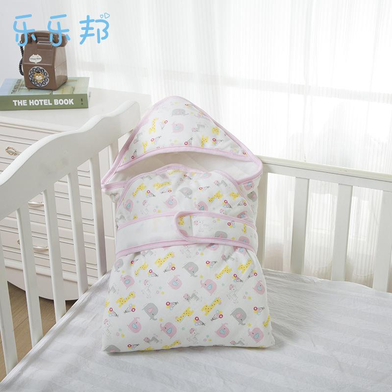 卡通全棉加厚新生儿抱被母婴用品 冬季印花宝宝包被
