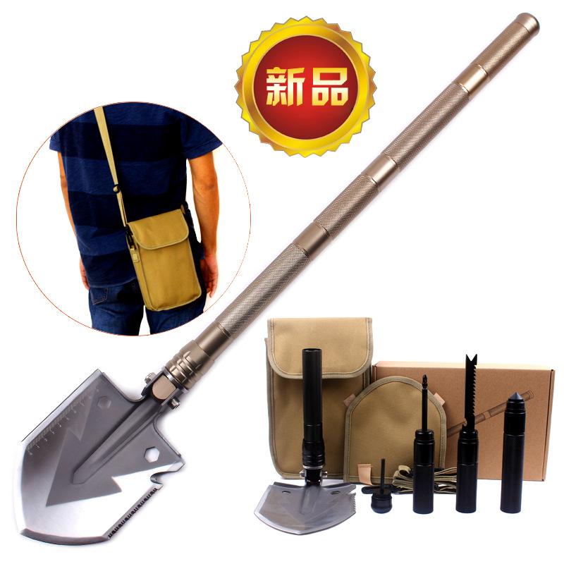 新款多功能工兵铲 折叠防身兵工铲子 户外野营用品工具 求生装备