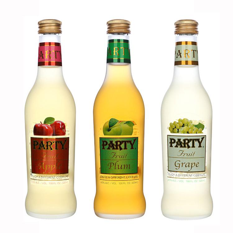 台湾原装进口食品饮料 party多种水果口味果酒瓶装聚会酒水