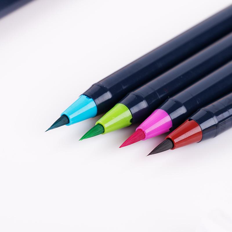 TOUCHnice水彩毛笔 20色漫画绘画勾线毛笔 双色两用马克笔