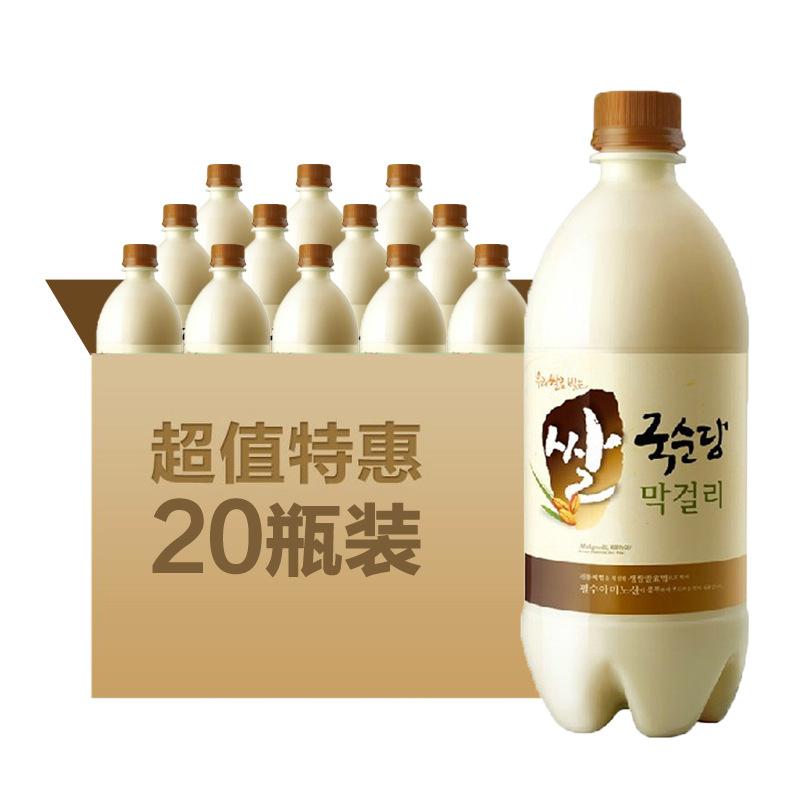 韩国麴醇堂碳酸玛克丽酒 白瓶750ml*20/箱 月子酒 韩国米酒