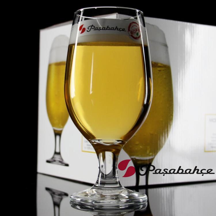 土耳其帕莎玻璃啤酒杯德国小麦啤酒杯超大号果汁杯饮料杯高脚杯