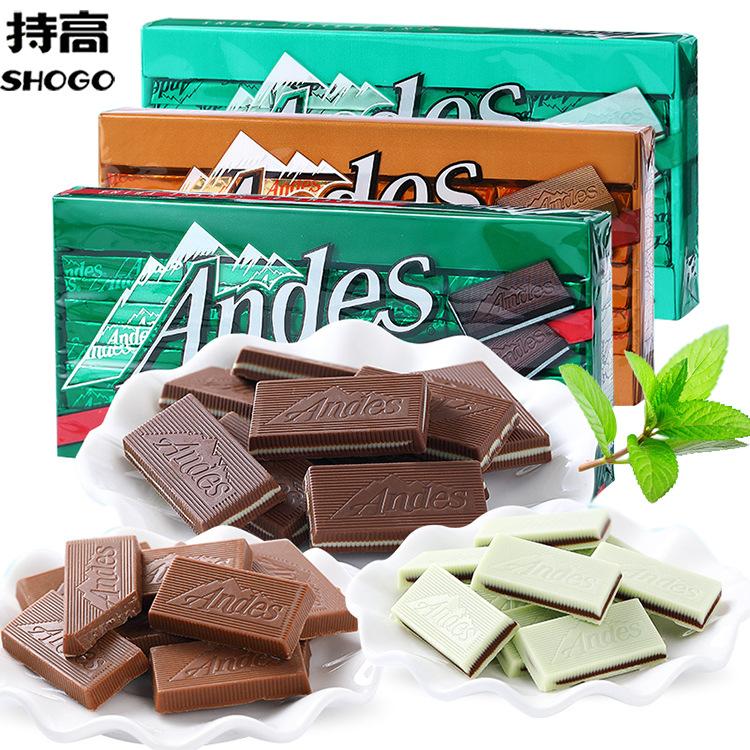 美国进口安迪斯/安迪士Andes单层薄荷巧克力132g 可可脂糖果