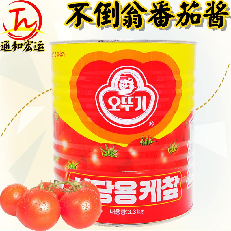 韩国原装进口不倒翁番茄酱3.3kg 韩式风味调味酱餐饮料理.