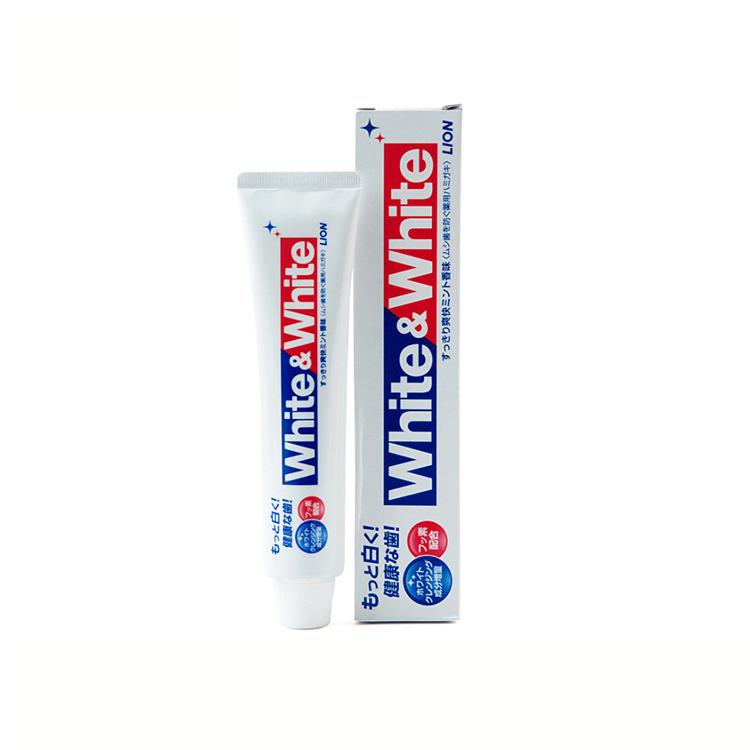 日本进口狮王/LION特效清新薄荷美白WHITE牙膏牙齿去垢护理牙龈
