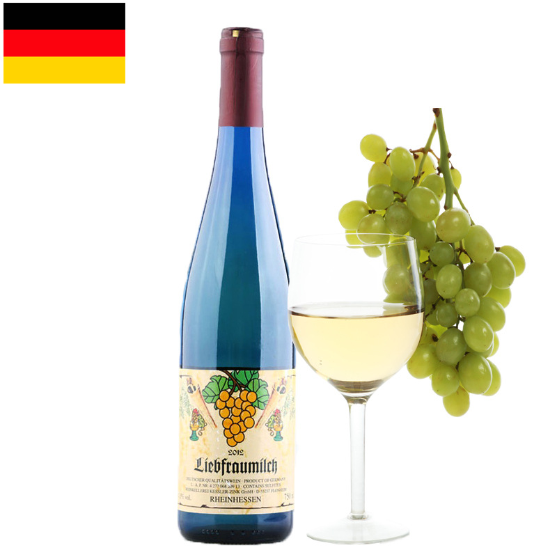 进口葡萄酒 德国半甜白葡萄酒原瓶进口女士红酒