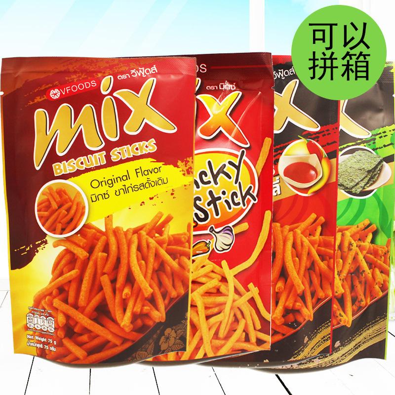 行货!泰国进口 VFOODS MIX脆脆条 休闲零食首同规格可拼箱