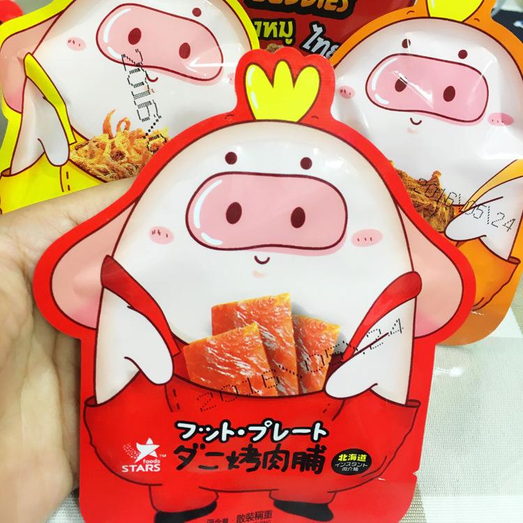 香港进口休闲食品零食北海道众星碳烤猪肉脯猪肉片猪肉条 5斤/袋
