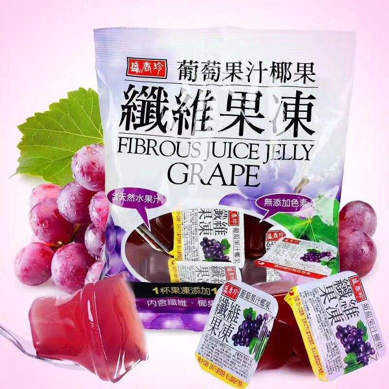 台湾进口果冻盛香珍纤维果冻果汁果肉布丁蒟蒻小吃零食品316g