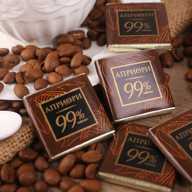 俄罗斯食品进口安妮斯99%黑巧克力100g可可零食礼盒装