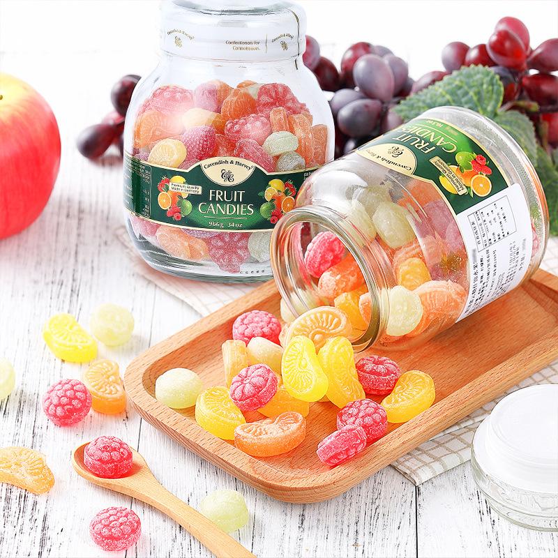 德国进口 嘉云牌杂果味糖果966g 休闲零食品批发果汁糖