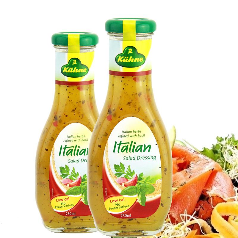 德国进口KUHNE冠利色拉调味酱 意式250ml 蔬菜沙拉 厨房烘焙食材