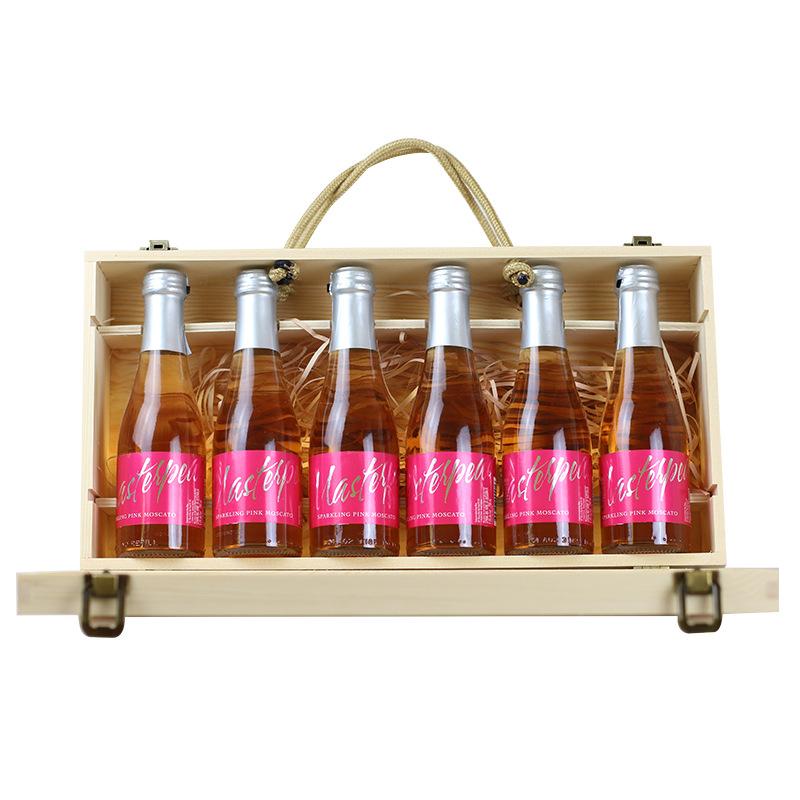 澳洲红酒礼盒装 皮士大师桃红起泡葡萄酒200ml 包邮