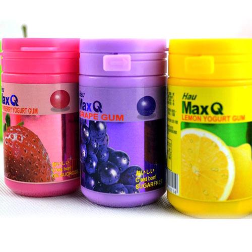 台湾进口 统一HUA Max Q 口香糖 木糖醇 草莓优格味  50g
