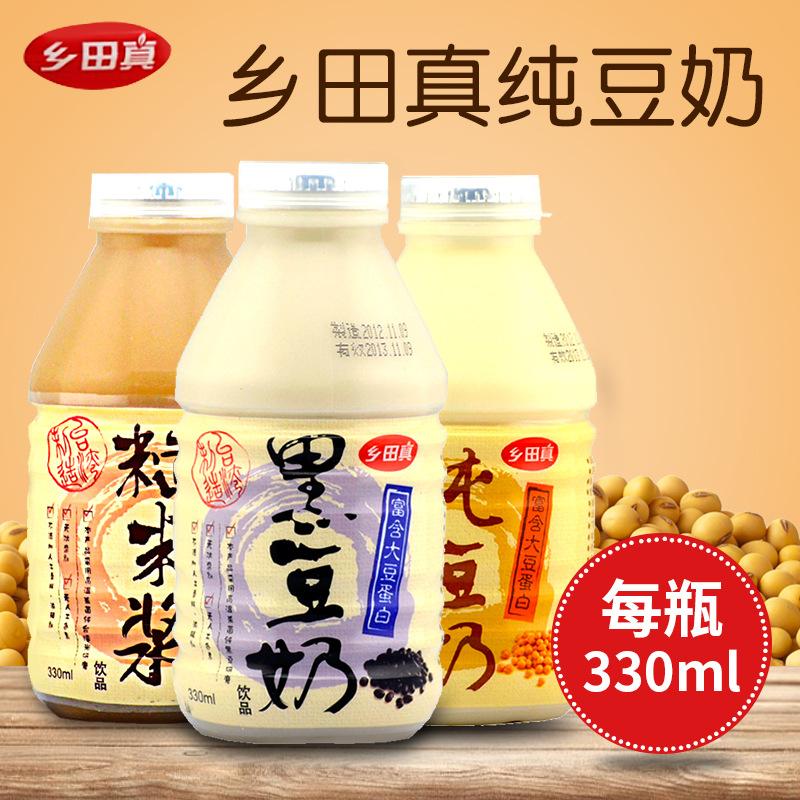 台湾 乡田真纯豆奶饮品330ml*24瓶/箱 早餐饮品进口果汁饮料