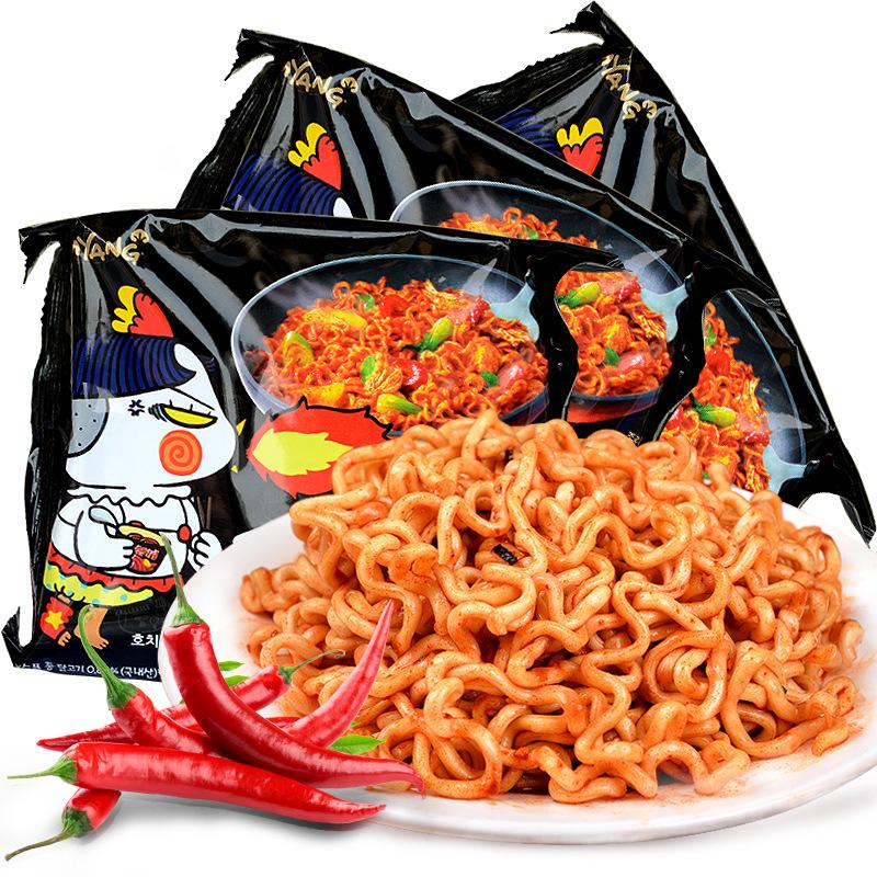 韩国进口零食三养辣火鸡面干拌面方便面