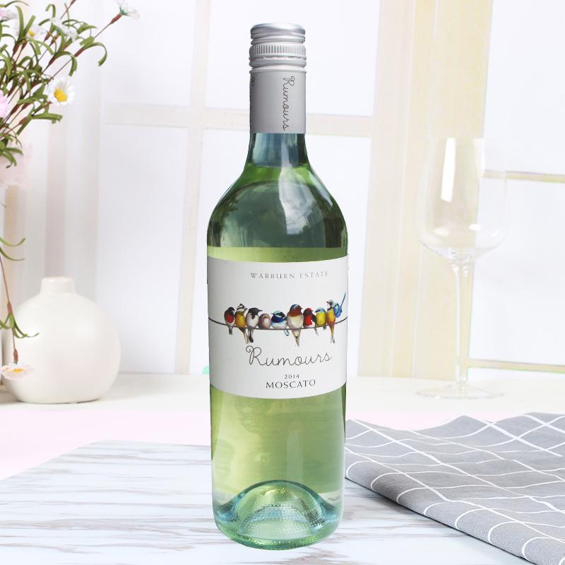 澳大利亚进口 彩虹鸟莫斯卡托甜白葡萄酒 750ml 单瓶 旋盖佐餐酒