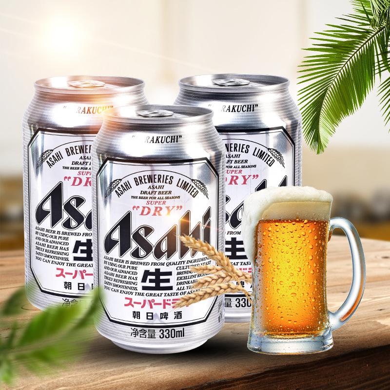 ASAHI/朝日超爽生啤酒 日式啤酒易拉罐装330ml整箱24罐