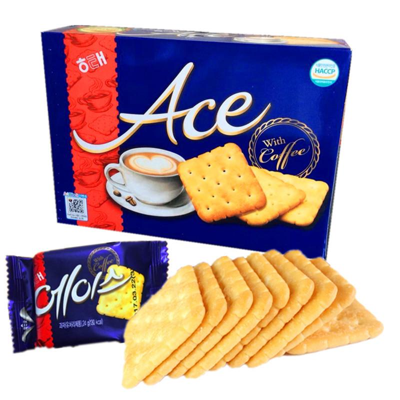 韩国进口食品海太ACE咸味饼干大盒饼干364g/盒