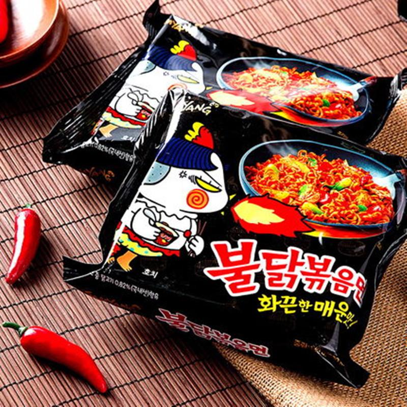 韩国进口超辣火鸡面140g*5包方便速食鸡肉干拌面泡面休闲零食
