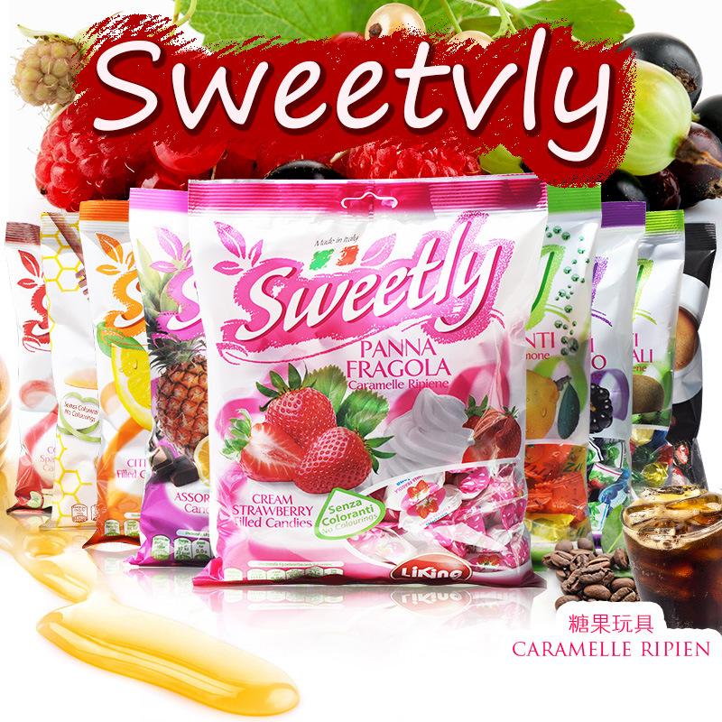 意大利原装进口糖果Liking Sweetly水果糖 9口味