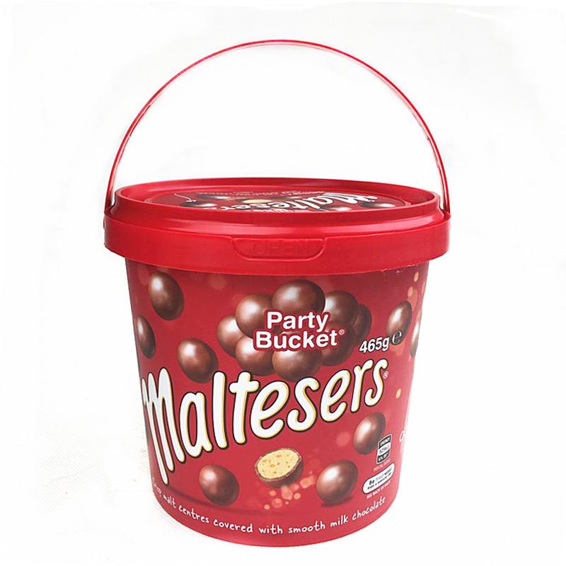 Maltesers澳洲进口零食麦提莎麦丽素夹心巧克力桶装465g