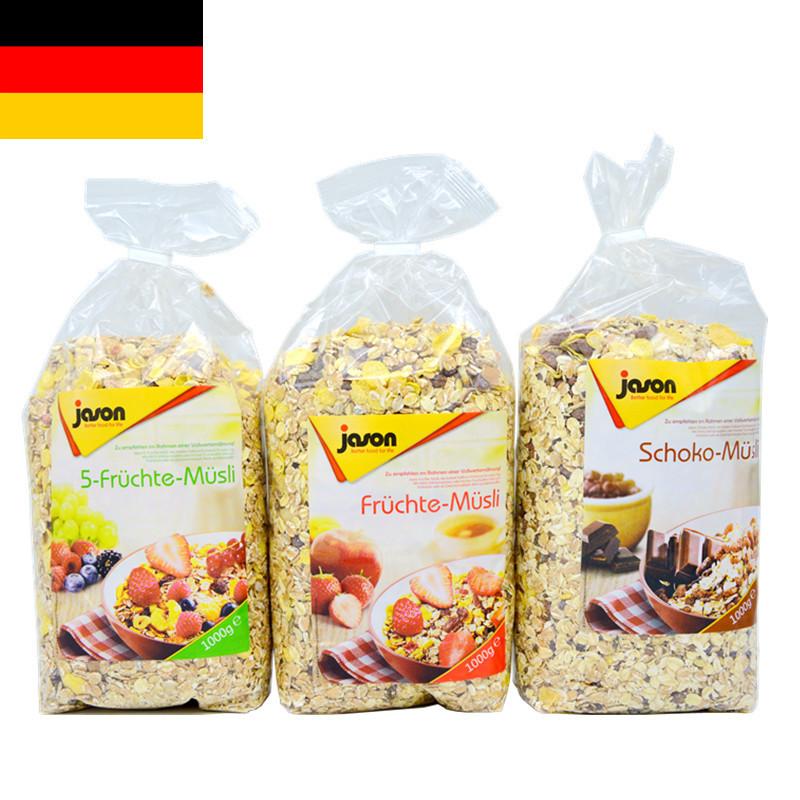 德国进口 Jason捷森五种水果营养麦片1000g 进口麦片