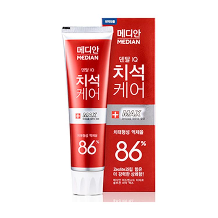 麦迪安86%美白牙膏 去牙石麦迪安86%牙膏 牙龈牙周护理120g 红色