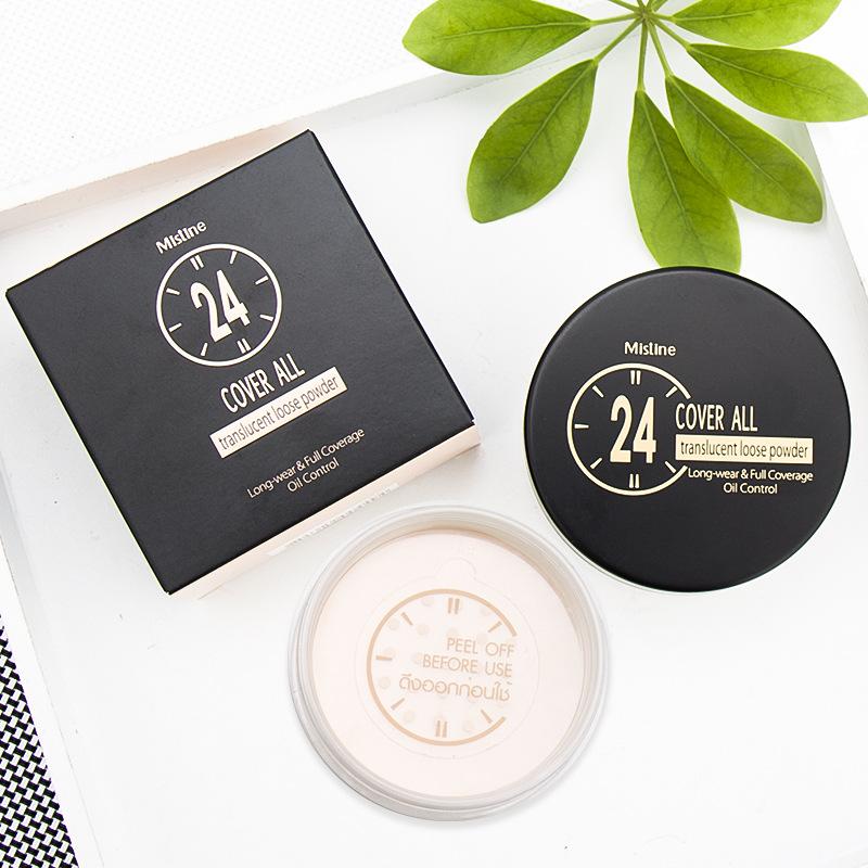 泰国正品Mistine24小时不脱妆散粉蜜粉 透明轻薄透气定妆控油