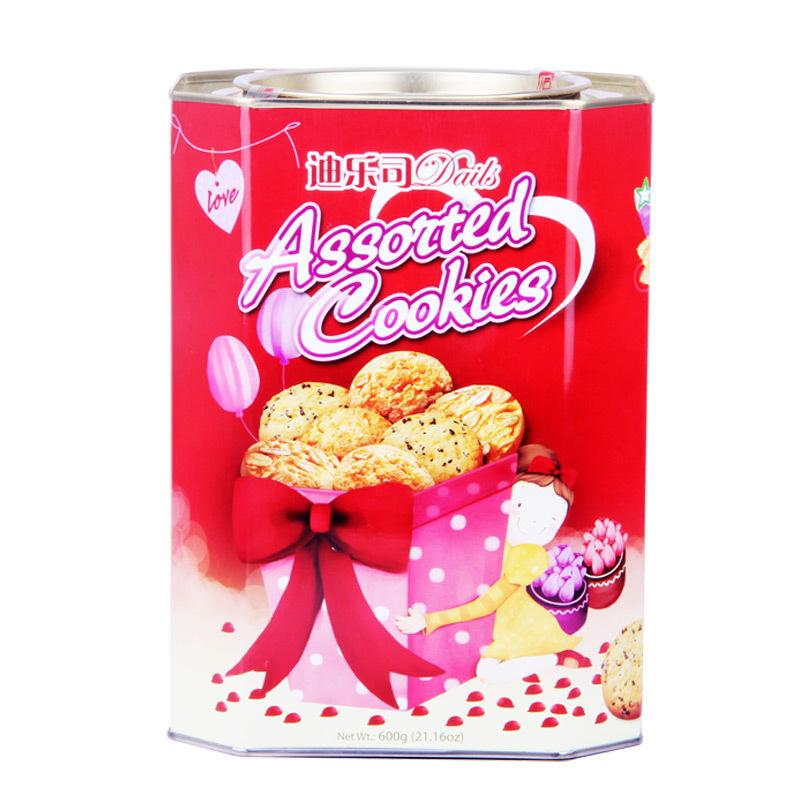 曲奇饼干马来西亚进口休闲曲奇饼干迪乐司 多口味曲奇饼干600g