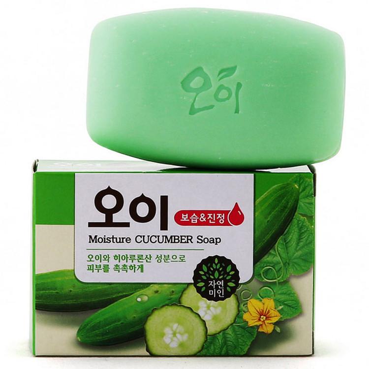 韩国香皂 正品吴琼花黄瓜皂进口去黑头洁面皂美白保湿洗脸皂