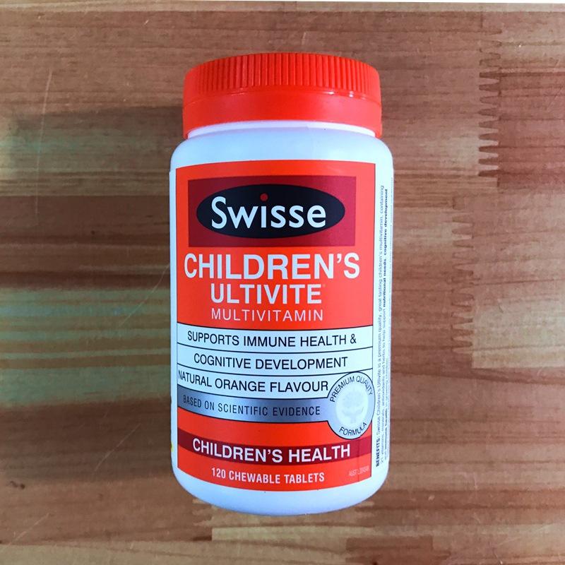 澳洲进口 Swisse儿童复合维生素咀嚼片 橙味宝宝综合维生素120粒
