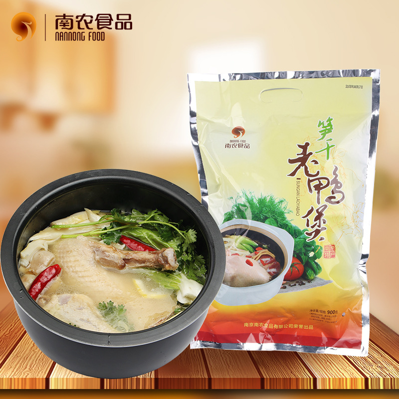 南农老鸭煲南京特产自热食品特色肉类卤味老鸭汤炖料