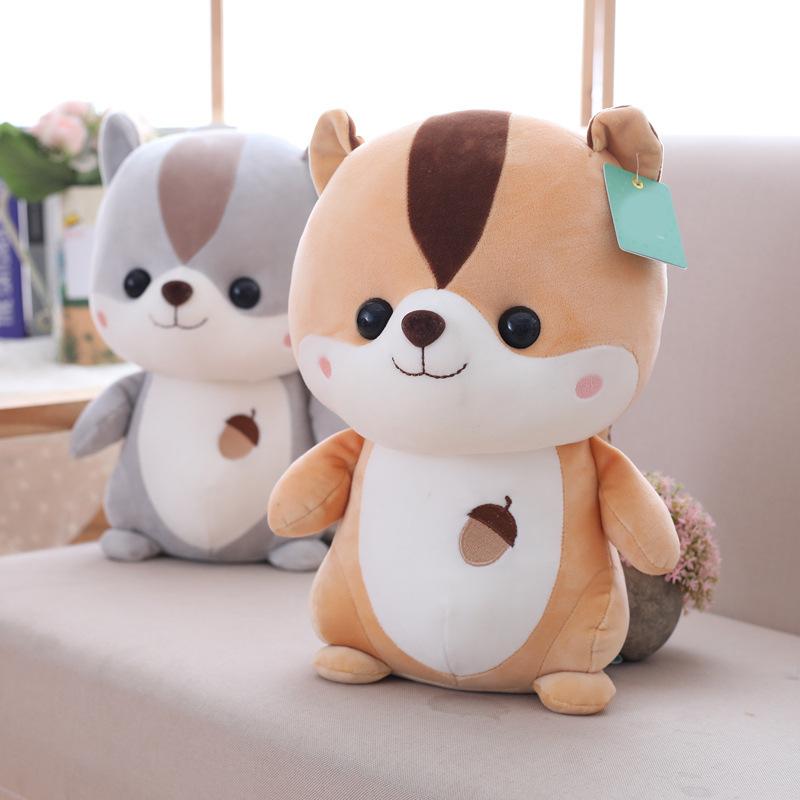 可爱松鼠毛绒玩具公仔软体鼠鼠小动物布娃娃玩偶儿童礼物女生超萌