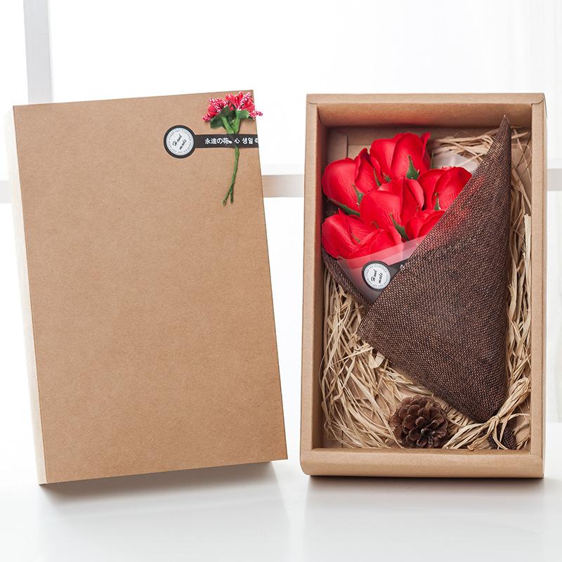 香皂玫瑰花妇女节7朵肥皂花礼盒生日礼物送闺蜜公司回礼礼品批发