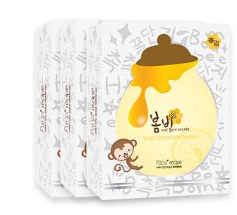 韩国paparecipe春雨蜂蜜面膜补水保湿 白春雨