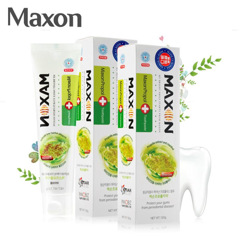 韩国原装进口Maxon蜂胶牙膏120g/支润养牙龈清新口气