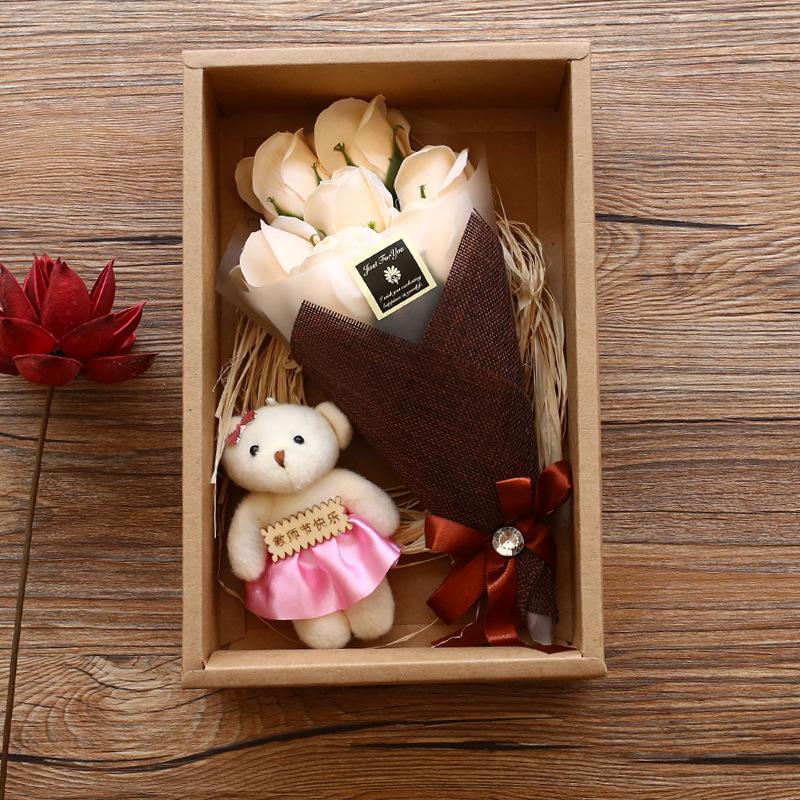 精装7朵香皂花礼盒七夕三八节DIY创意礼物教师节送礼婚庆生日礼品