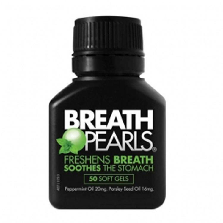 澳洲进口Breath Pearls 口气清新胶囊去口臭排胀气 50粒 保健食品