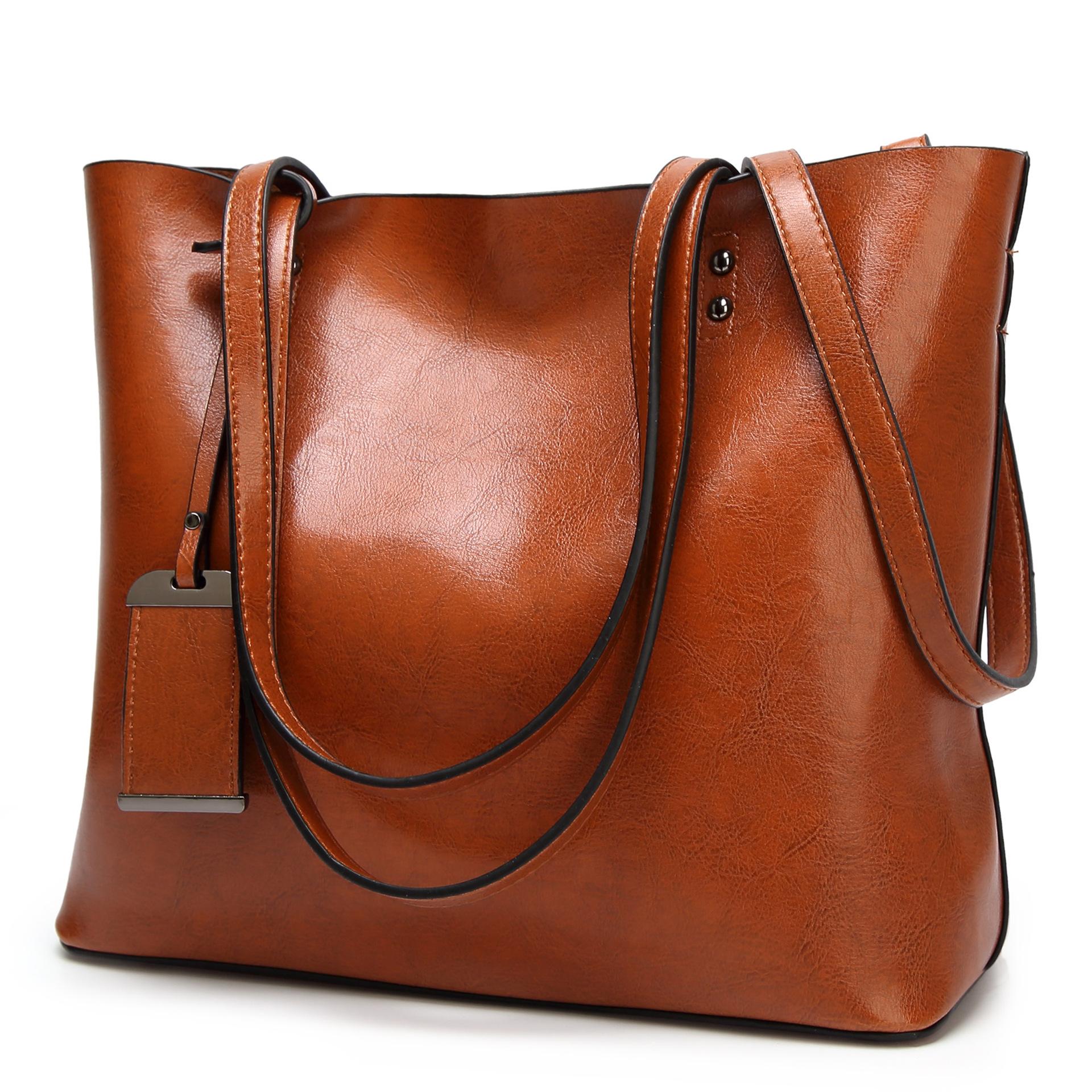 女包2017新款欧美时尚托特包复古油皮大容量单肩手提包