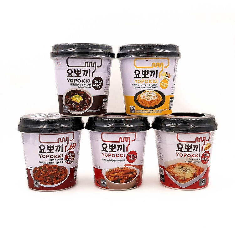 韩国进口慈恩岛yopokki速食年糕条 140g/120g芝士辣酱炒年糕
