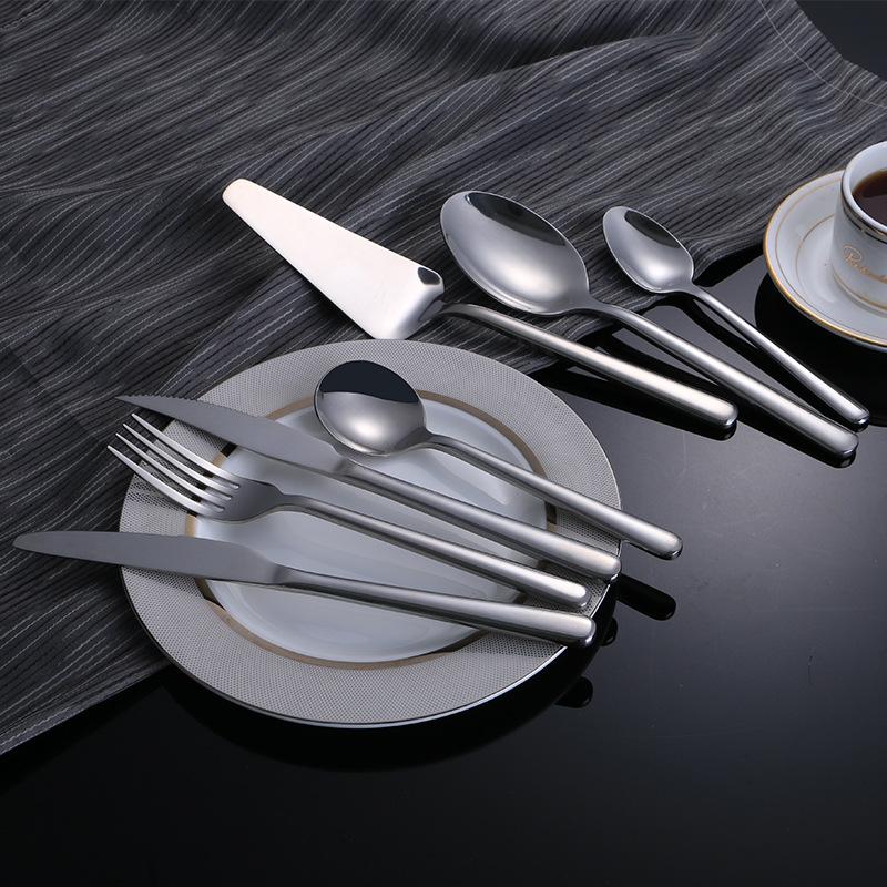 304西餐餐具套餐 不锈钢七件套酒店西式风格牛排刀茶勺