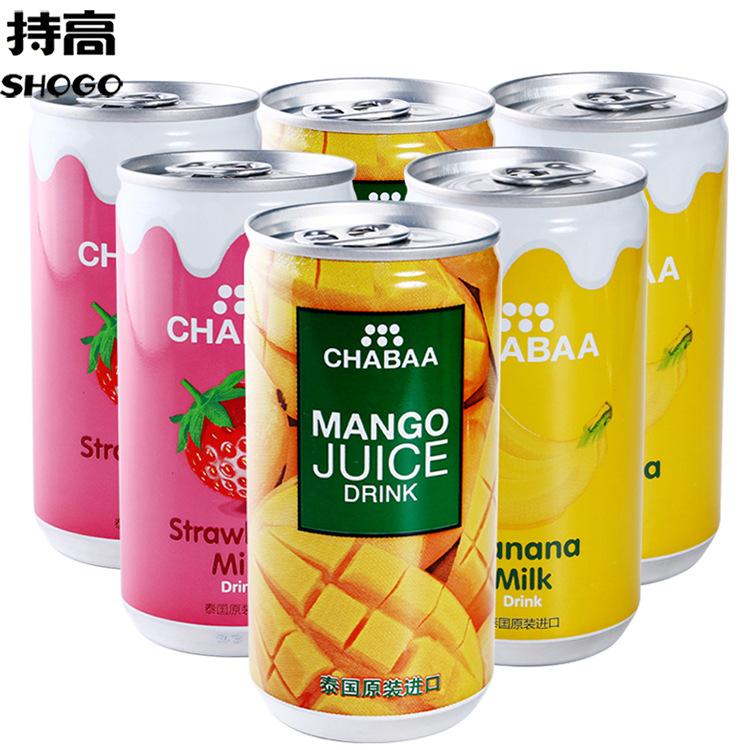 泰国进口芭提娅果汁饮料170ml听装芒果汁草莓 香蕉味果汁饮品