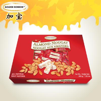 加拿大进口加宝蜂蜜扁桃仁香脆牛轧糖200g