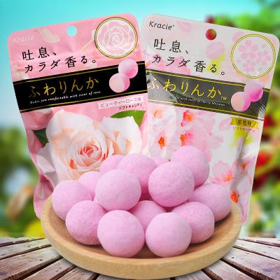 行货日本进口KRACIE玫瑰香味糖果32g