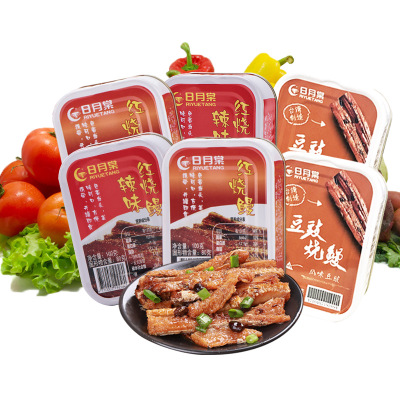 台湾进口 日月棠红烧鳗鱼豆豉香辣鳗鱼罐头100g